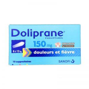 Hạ sốt nhét hậu môn Doliprane Pháp - 10 viên (Từ 8-12kg)