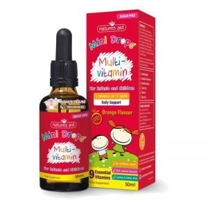 Vitamin Multi Vitamin Drop Nature aid Anh - 50ml (Từ 3 tháng - 5 tuổi)