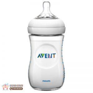 Bình sữa nhựa Avent Anh trắng - 260ml (1m+)