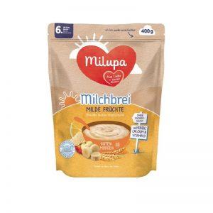 Bột Milupa Đức vị cháo sữa ngũ cốc, táo, chuối (ngày) - 400g (6M+)