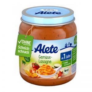 Hũ Alete Đức vị phô mai, cà chua, cà rốt, bí ngòi - 250g (12m+)
