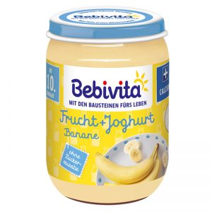 Hũ Bebivita Đức vị sữa chua, chuối - 190g (10m+)