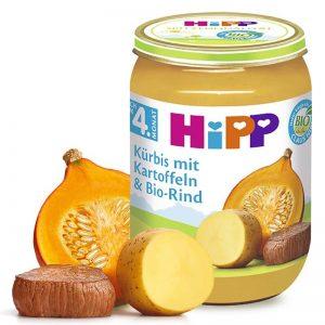Hũ Hipp Đức vị bò, bí ngô, khoai tây - 190g (4m+)