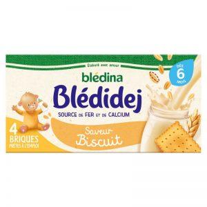 Sữa ngũ cốc Bledina Pháp vị bích quy - 250ml x 4 hộp (6m)