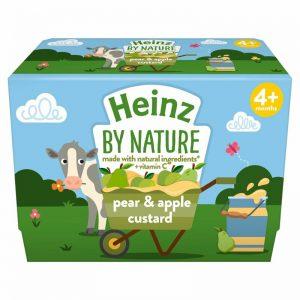 Váng sữa custard Heinz Anh vị táo, lê - 100g x 4 (4m+)