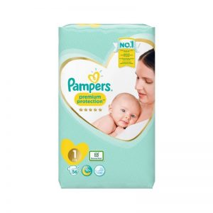 Bỉm Pampers Anh Premium Protection size 1 Dán - 56 miếng (2 - 5kg)
