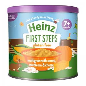 Bột Heinz Anh vị cà rốt, ngô ngọt, phô mai - 240g (7m+)