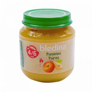 Hoa quả nghiền 4-6M Bledina Pháp vị táo, lê - 130g