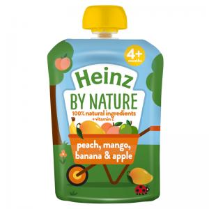 Hoa quả nghiền 4M Heinz Anh vị đào, xoài, chuối, táo - 100g