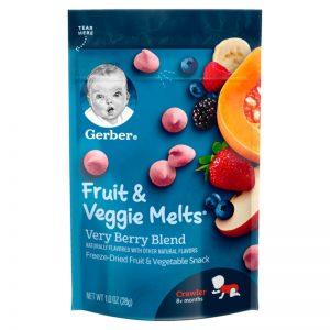 Sữa chua khô Gerber Mỹ vị quả mọng mix rau củ – 28g (8m+)