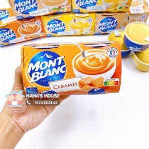 Váng sữa Mont Blanc Pháp vị caramen - 125g x 4 hộp (6m+)