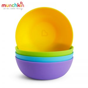 Bát ăn dặm nhựa Munchkin Mỹ - 4 chiếc (6m+)