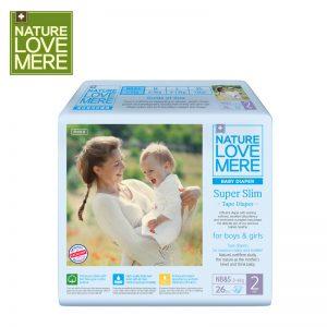 Bỉm Nature Love Mere Hàn Super Slim size NB&S Dán - 36 miếng (Từ 3 - 6kg)