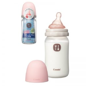 Bình sữa nhựa Combi Nhật hồng - 240ml (3m+)