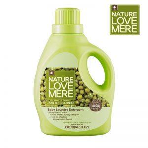 Nước giặt Nature Love Mere Hàn Mungbean hạt đậu xanh - 1800ml (chai)