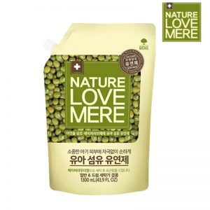 Nước xả Nature Love Mere Hàn Mungbean hạt đậu xanh - 1300ml (túi)
