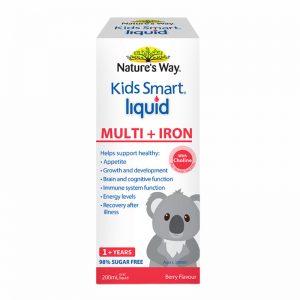 Siro Vitamin & Fe Kids Smart Nature's Way Úc - 200ml ( Từ 1 tuổi)
