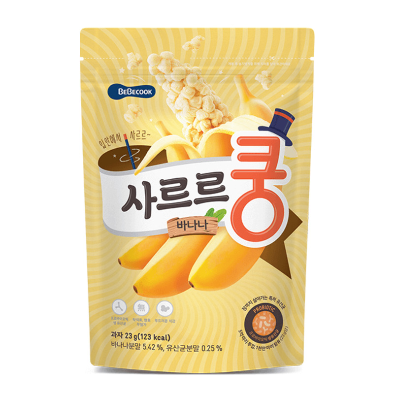 Bánh bỏng Bebecook Hàn Quốc vị Chuối - 23g (1y+)