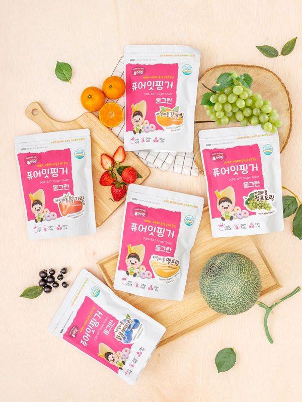 Bánh gạo hữu cơ Naebro Hàn Quốc vị Cam dạng viên – 30g (9m+)