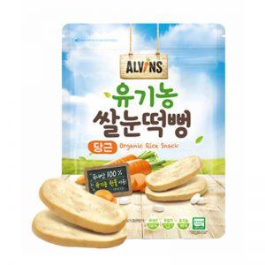 Bánh gạo organic Alvins Hàn Quốc vị Cà rốt dạng thanh - 30g (6m+)