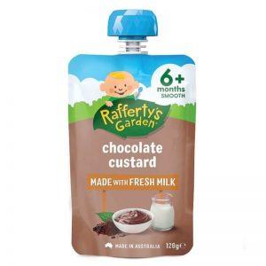 Váng sữa Raffertys Úc vị socola - 120g (6m+)