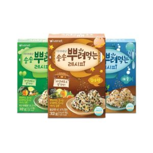 Gia vị rắc cơm Ivenet Hàn Quốc vị kimjaban 4gx8 gói (12m+)